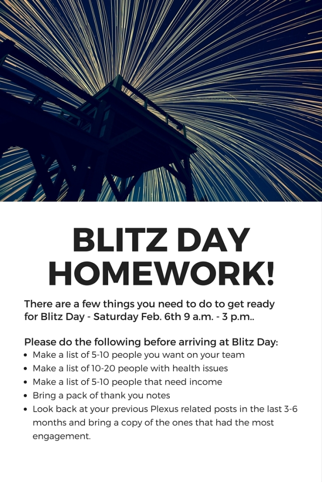 blitz day homework
